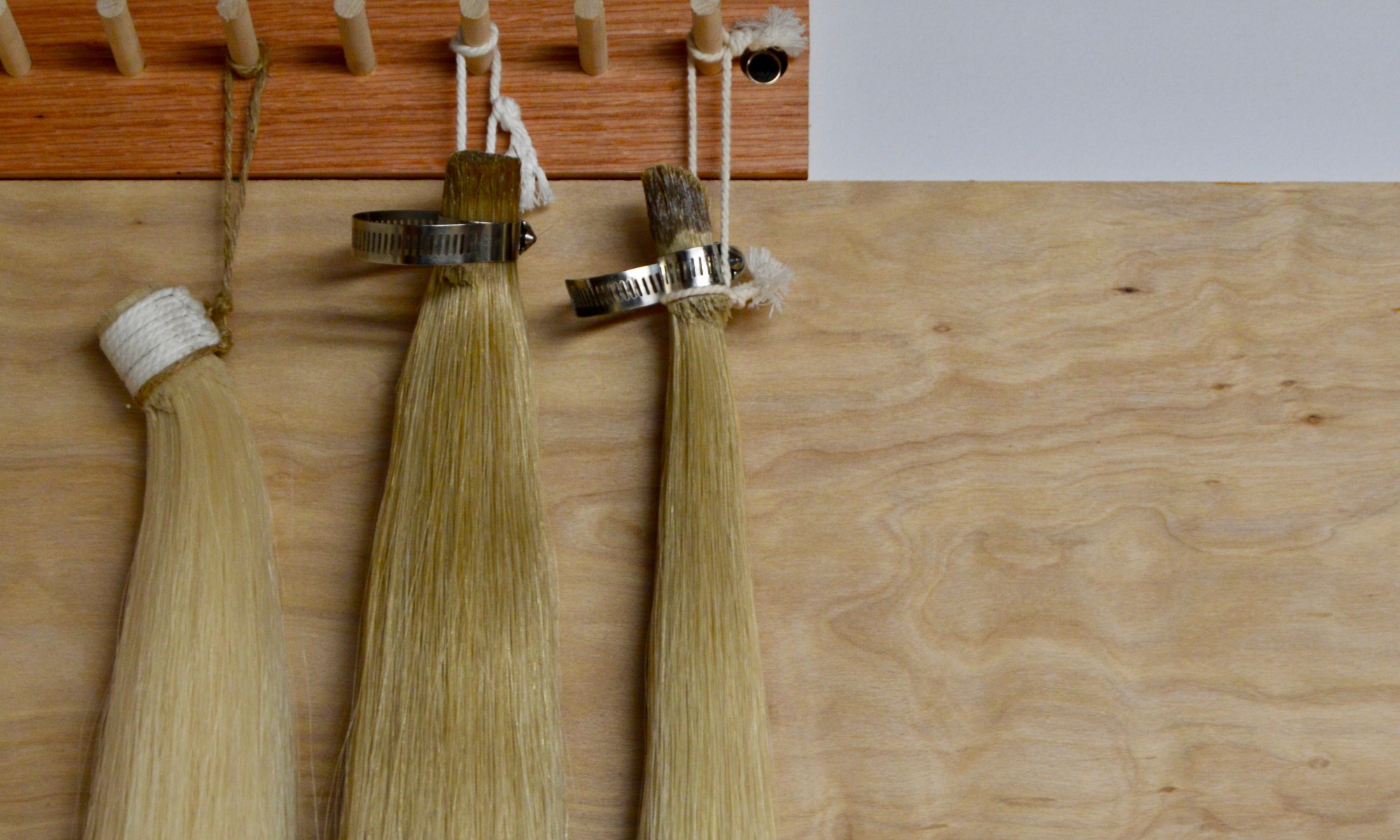 Horsehair for rehairs.